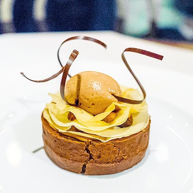 The Black Swan – chocolate tart, frangelico caramel sauce, milk chocolate ice cream // Probably my favourite dessert this year after Quay's snow egg. This is how you do a chocolate tart, goddamn.