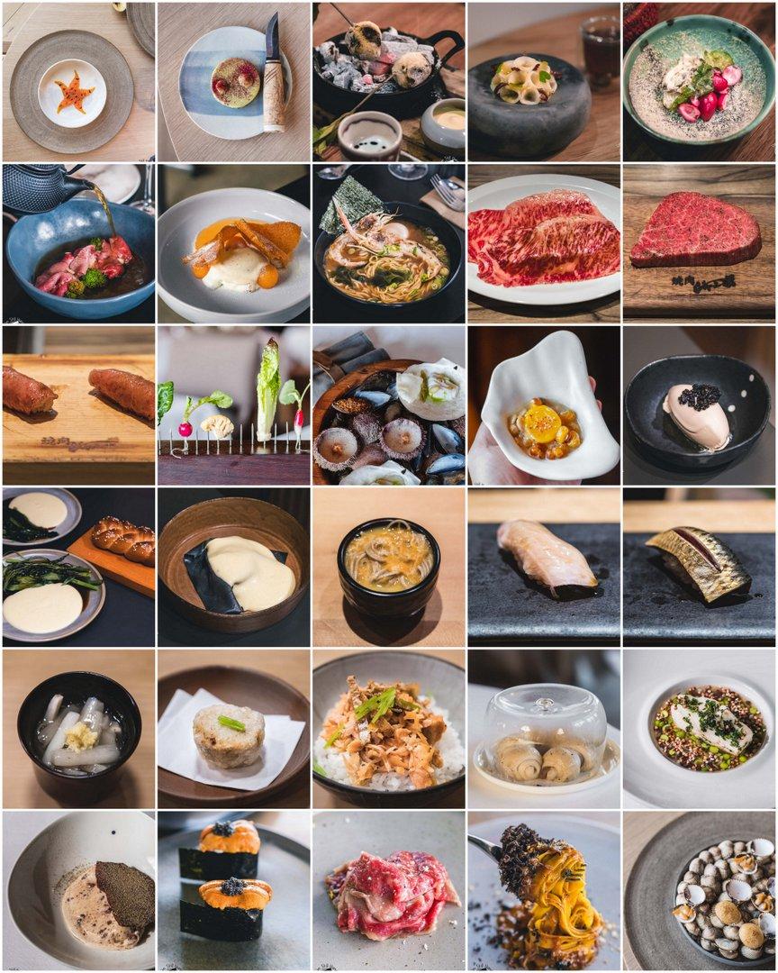 Top 10 restaurants 2018 collage
