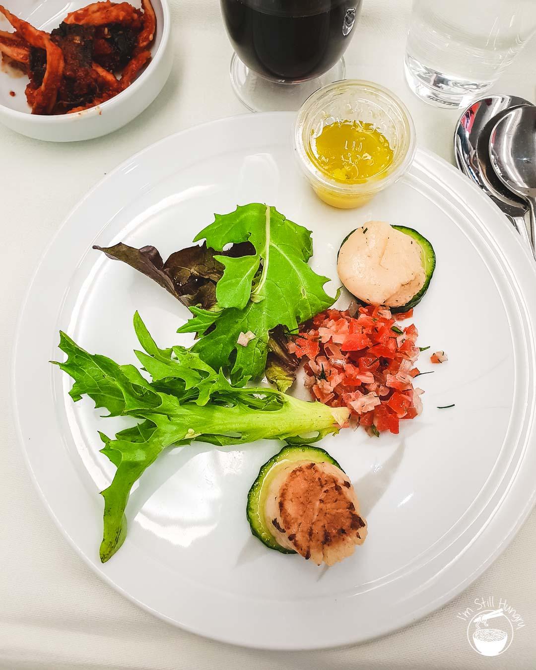 Korean Air Business Class Food