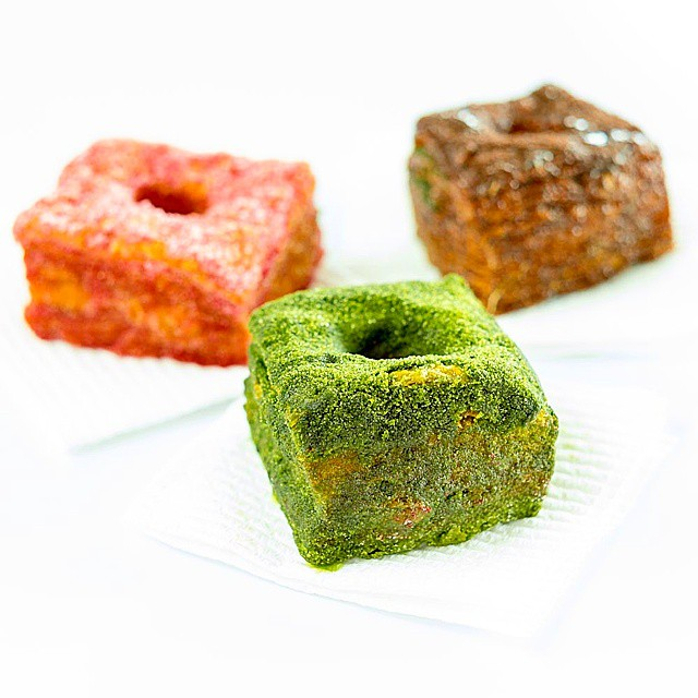 Matcha, raspberry & vanilla cream, Milo cream & more Milo cronuts. For the memories - not the calories.