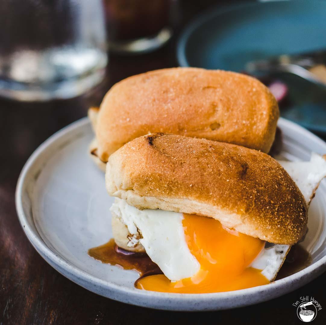 ACME Filo sausage & egg sanga