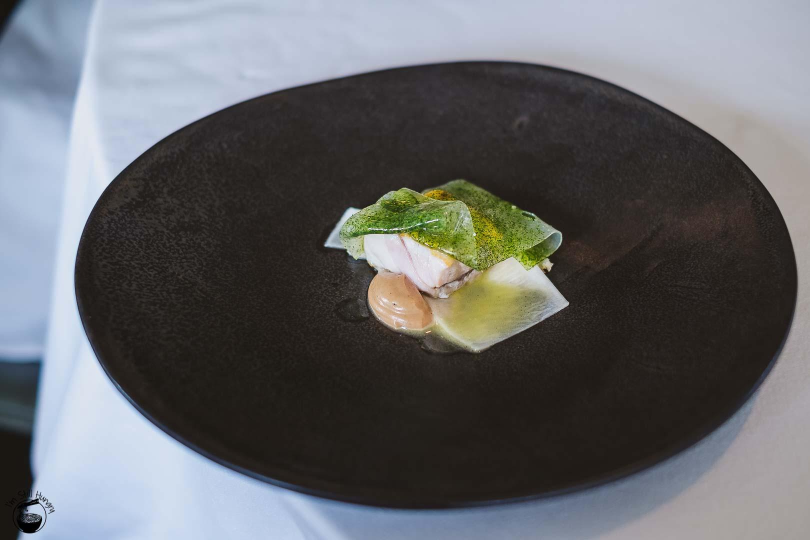 Brae Restaurant Birregurra Bass groper, cured back fat, walnut & butter braised turnip