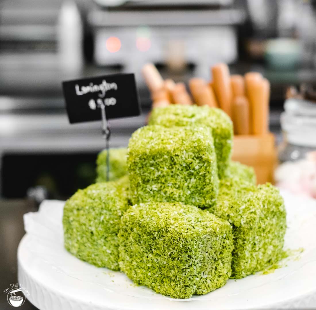 Cafe Kentaro Surry Hills matcha lamington