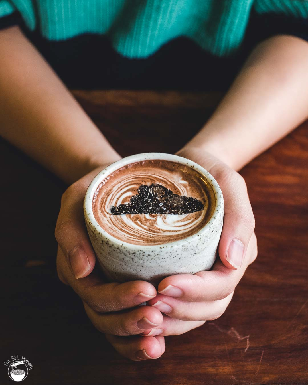 Cavalier Specialty Coffee Truffle-1 Truffle hot chocolate - black truffle jersey milk, Venezuelan cocoa, Marvell Street espresso, sliced Braidwood black truffle