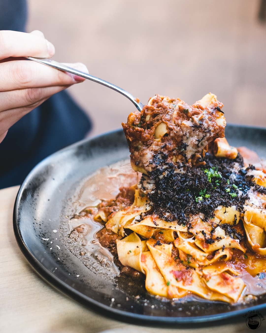 Devon Cafe Surry Hills Ragu alla bolognese: egg papparedelle, slow cooked meat sauce, grana padano