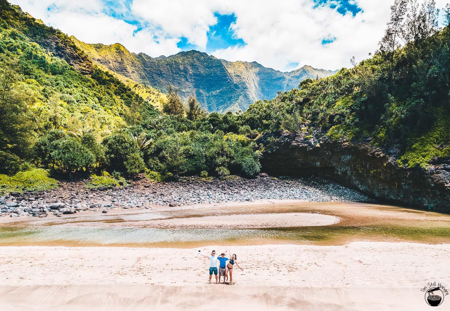 Hanakapiai Beach Kalalau Trail Kauai Hawaii