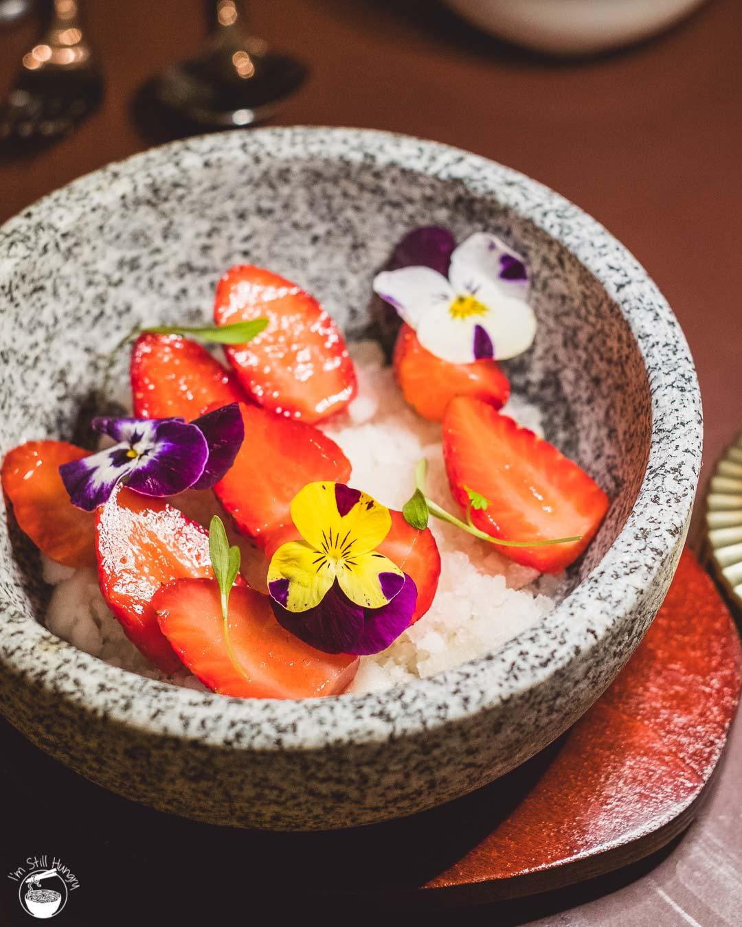 Jade Temple Sydney Neil Perry Jasmine Granita w/fruit & edible flowers