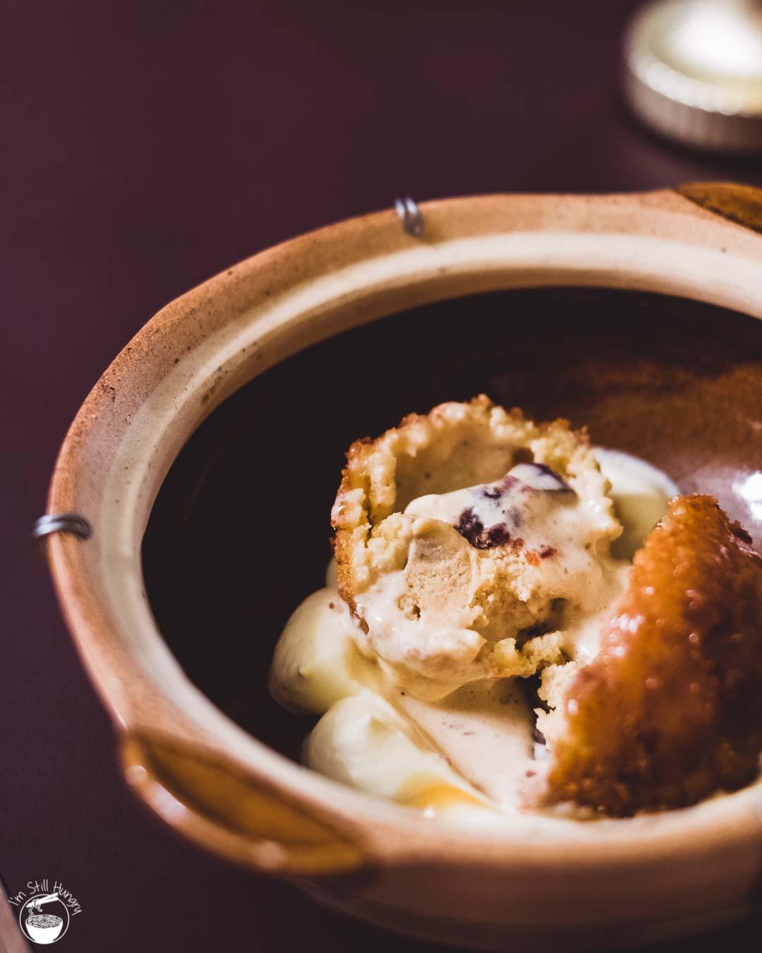 Jade Temple Sydney Neil Perry Fried vanilla & date ice cream w/maple sauce