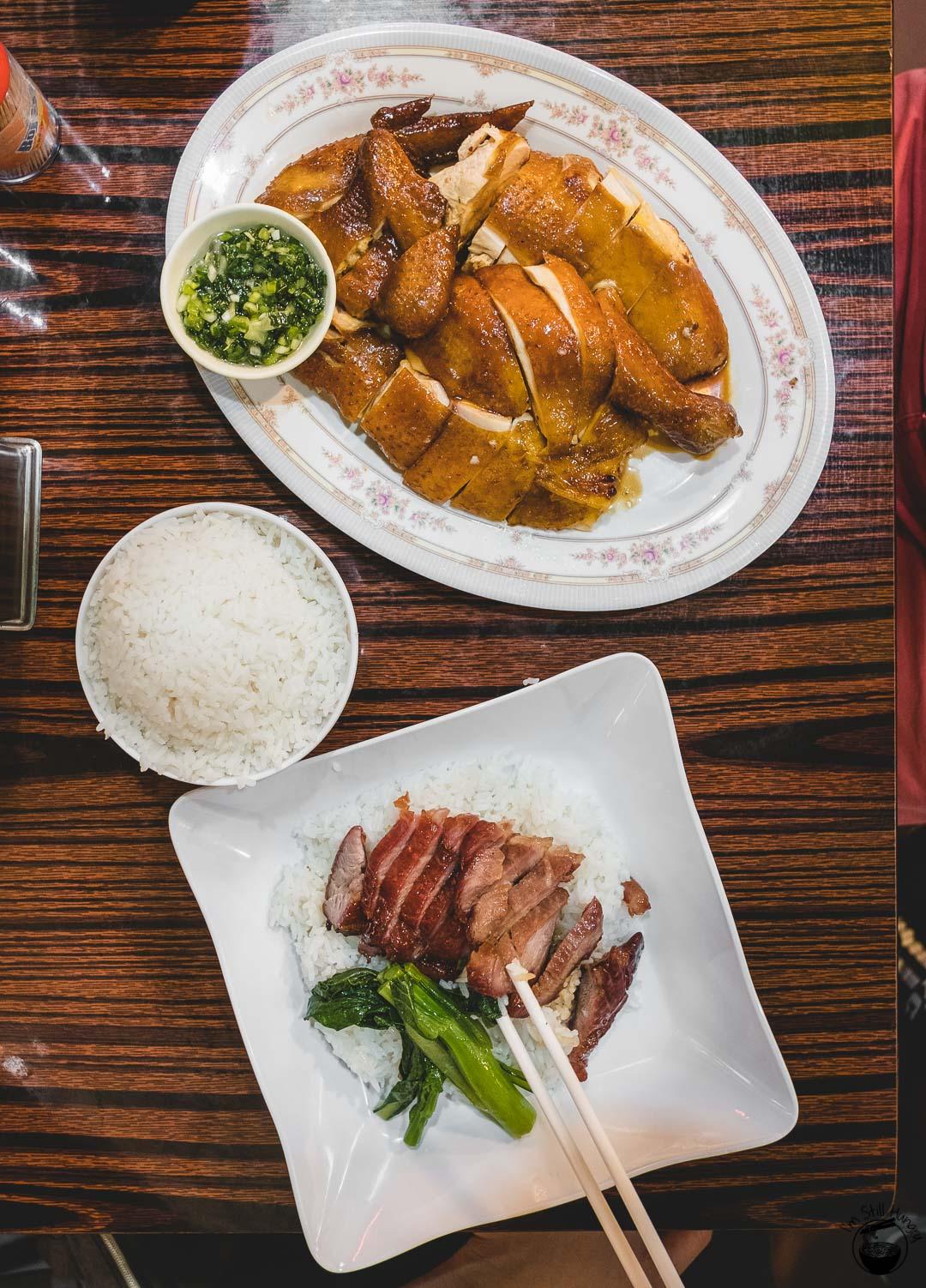 Kwan Yu Roast Meat Hong Kong Roasted soy sauce chicken, char siu rice