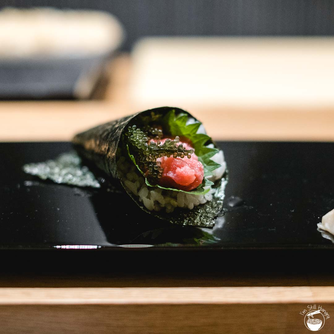 Minamishima Melbourne Ootoro hand roll