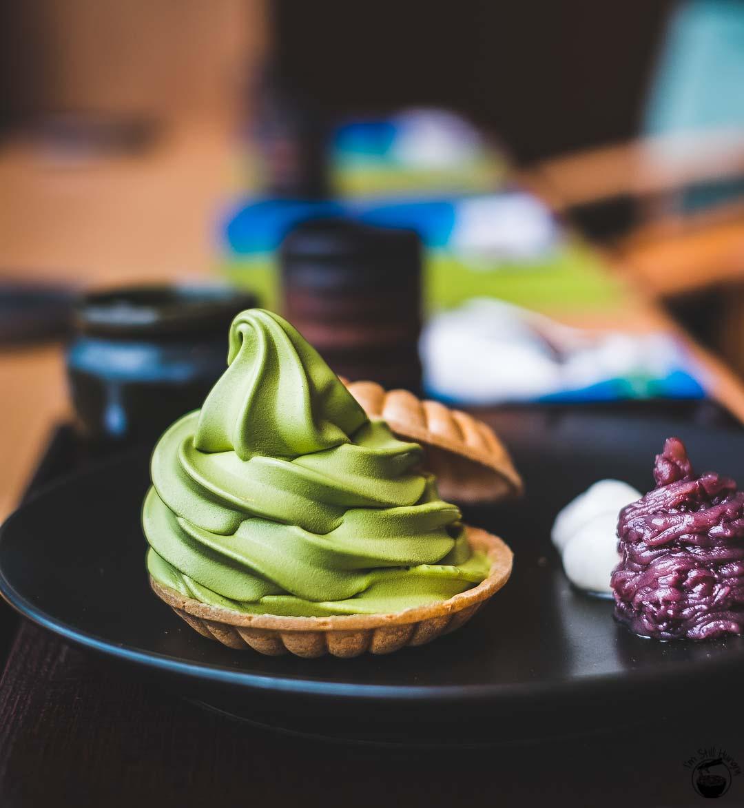Nakamura Tokichi Hong Kong-3 Matcha soft serve in monaka biscuit w/azuki & dango