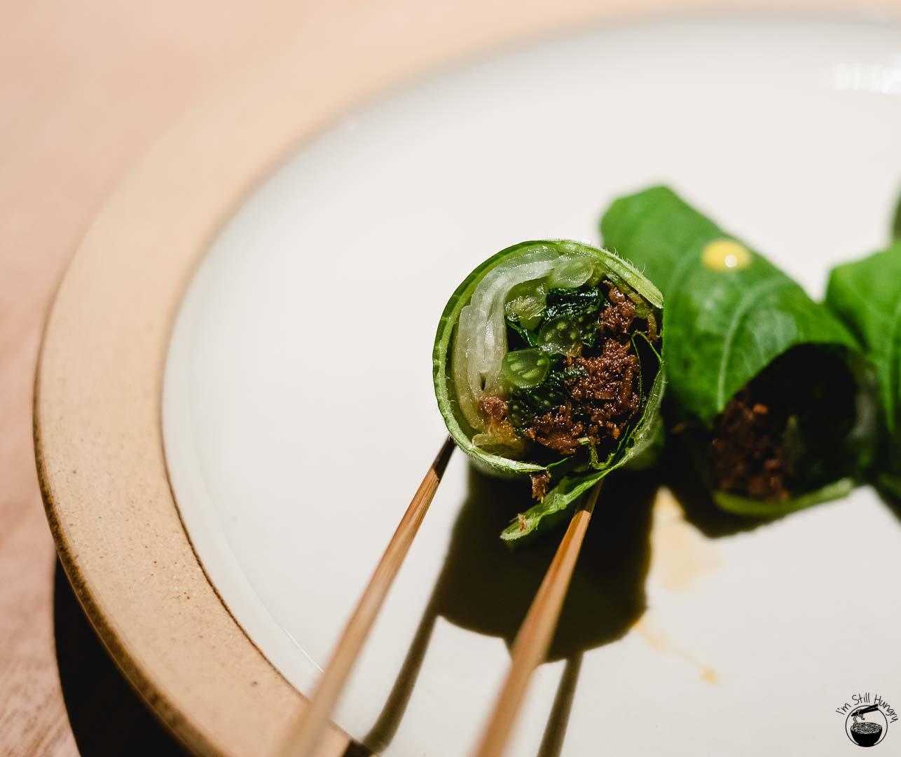 Restaurant Sasaki Surry Hills-8 Kangaroo, ginger & yam bean