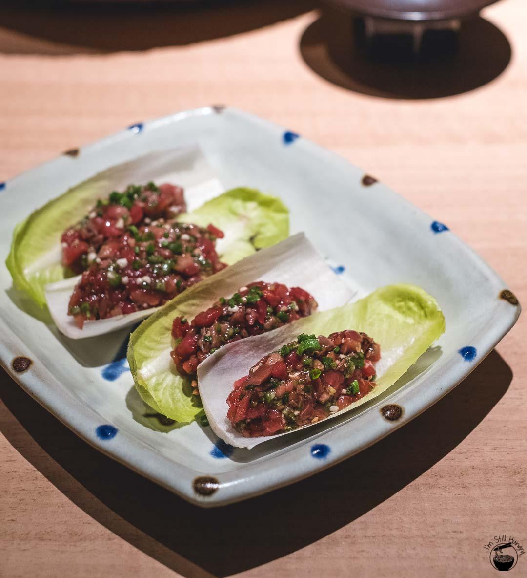 Restaurant Sasaki Surry Hills Second Visit-6 Veal, okra & witlof