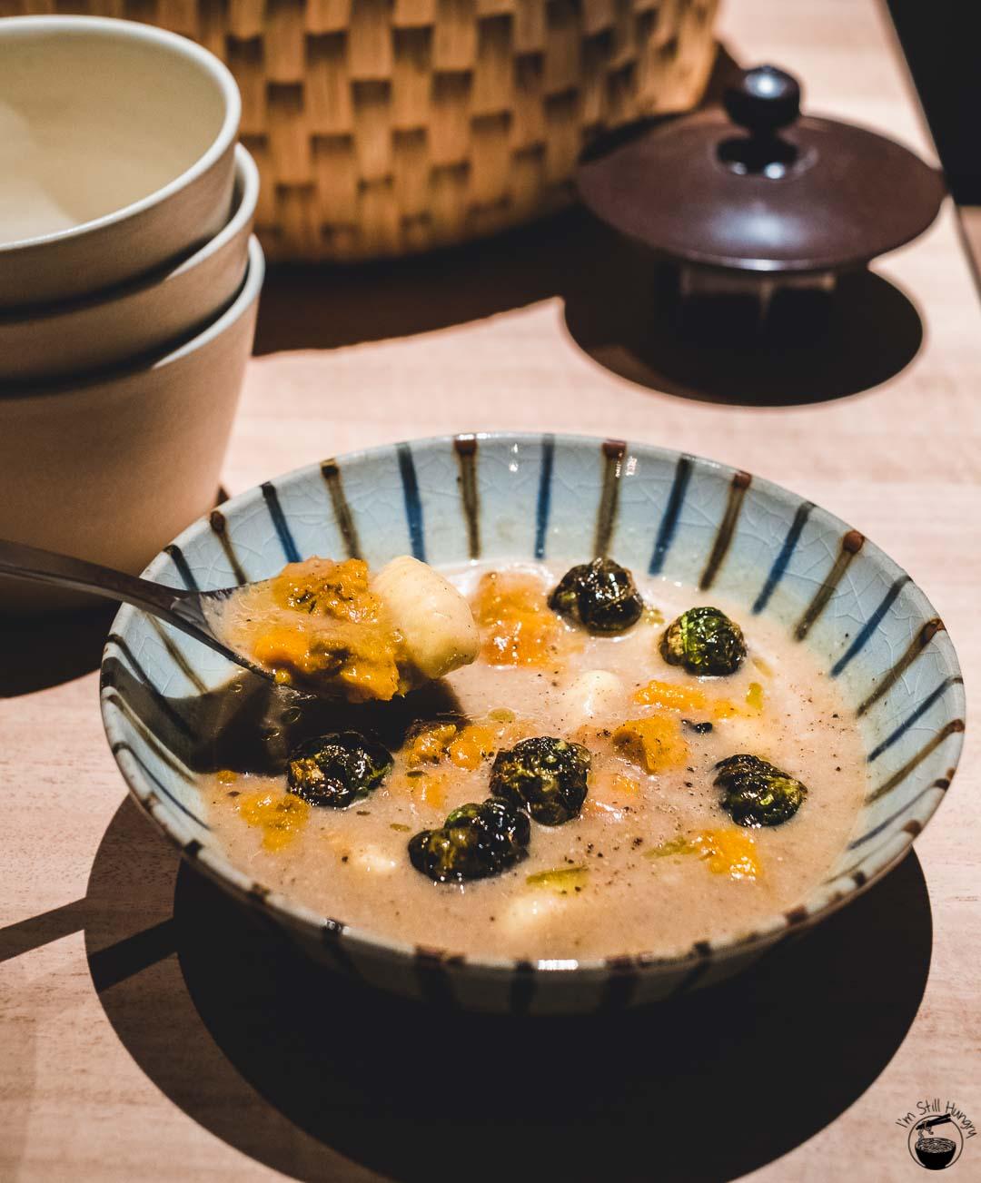 Restaurant Sasaki Surry Hills Second Visit-7 Cauliflower, potato, brussel sprouts & pumpkin