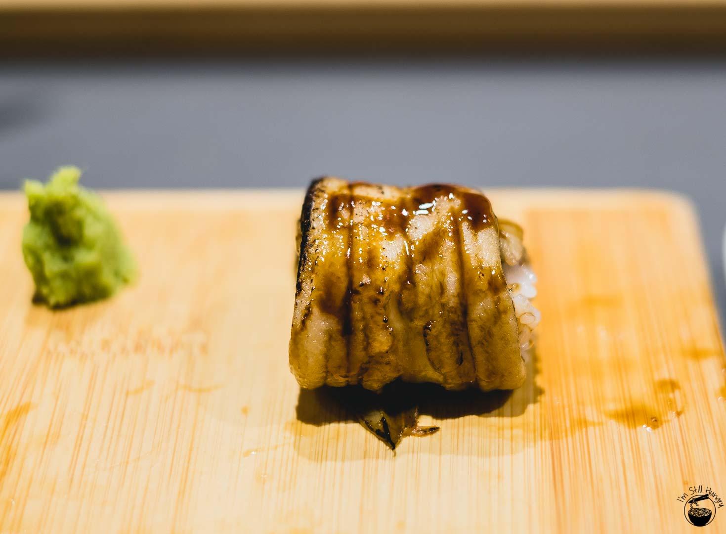 Sashimi Shinsengumi Anago (saltwater eel)