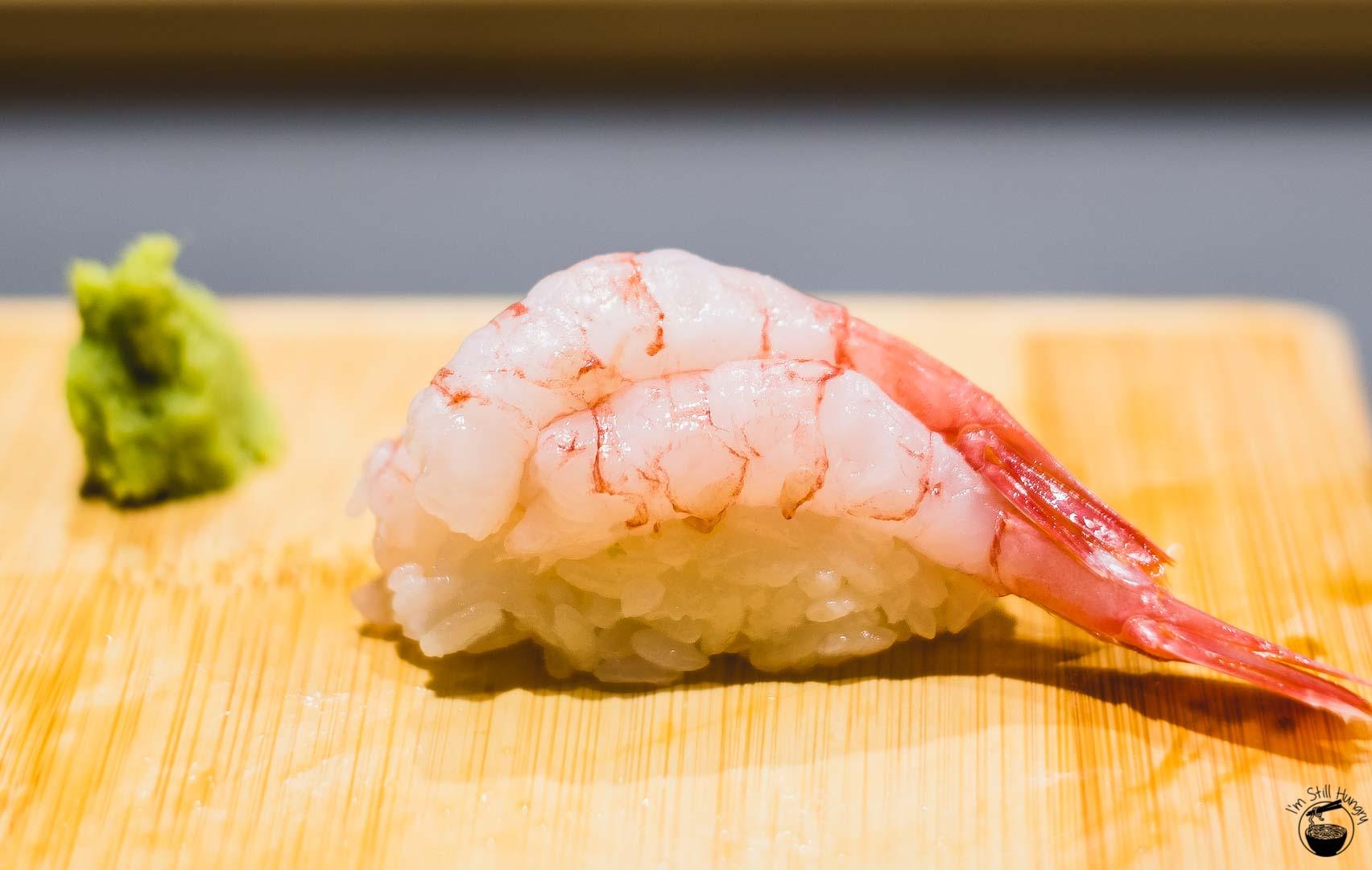Sashimi Shinsengumi Amaebi (sweet shrimp)