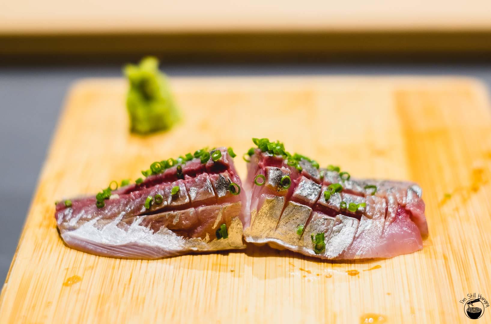 Sashimi Shinsengumi Aji (horse mackerel)