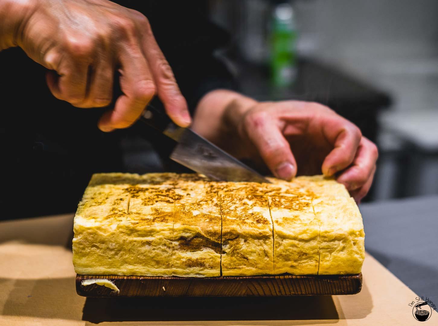Sashimi Shinsengumi Tamagoyaki (Japanese egg omelette)