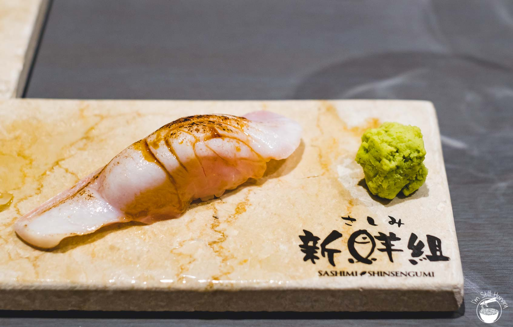 Sashimi Shinsengumi Crows Nest Sushi Omakase Torched kingfish belly