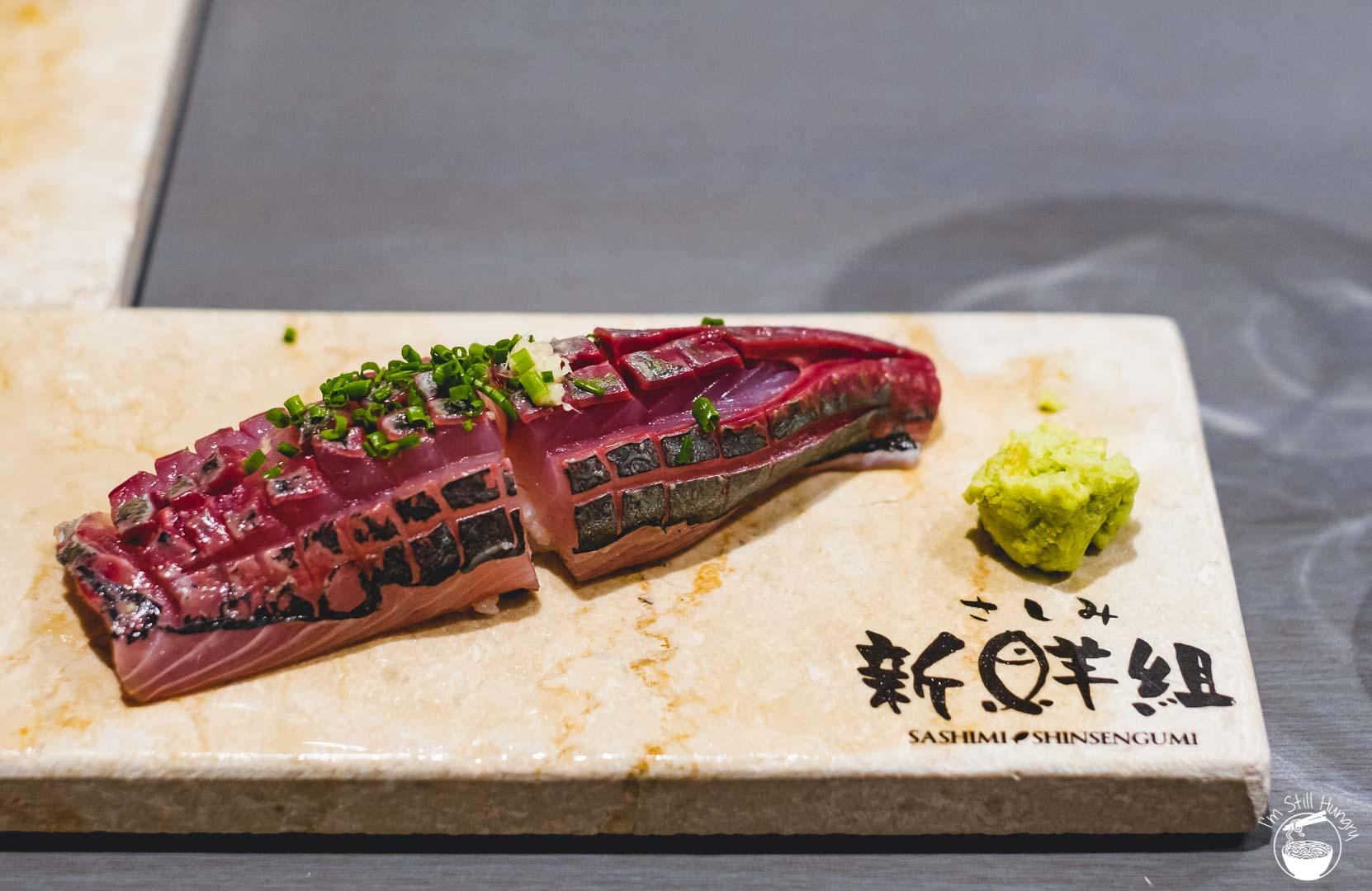 Sashimi Shinsengumi Crows Nest Sushi Omakase Mackerel