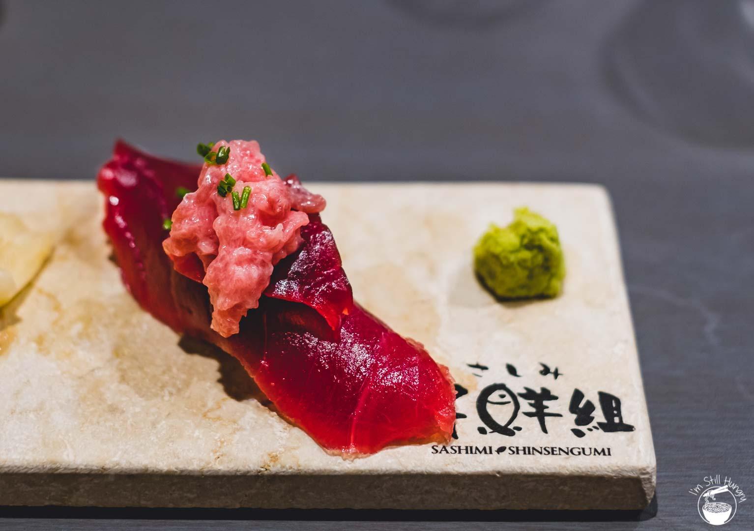 Sashimi Shinsengumi Crows Nest Sushi Omakase tuna