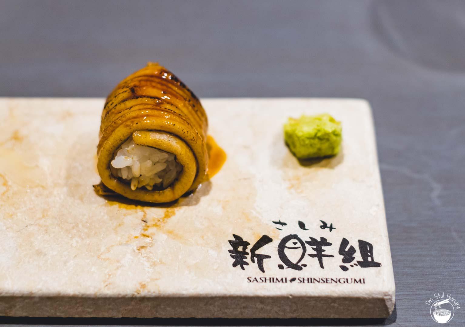 Sashimi Shinsengumi Crows Nest Sushi Omakase Conger eel