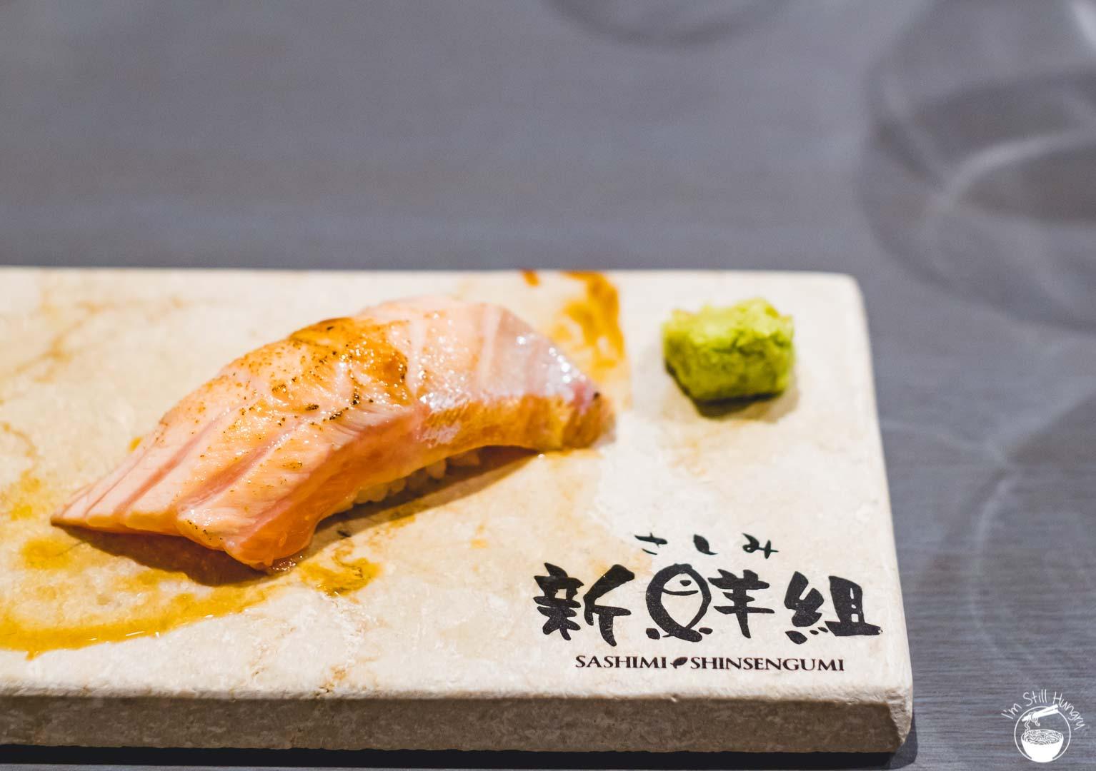 Sashimi Shinsengumi Crows Nest Sushi Omakase Torched salmon