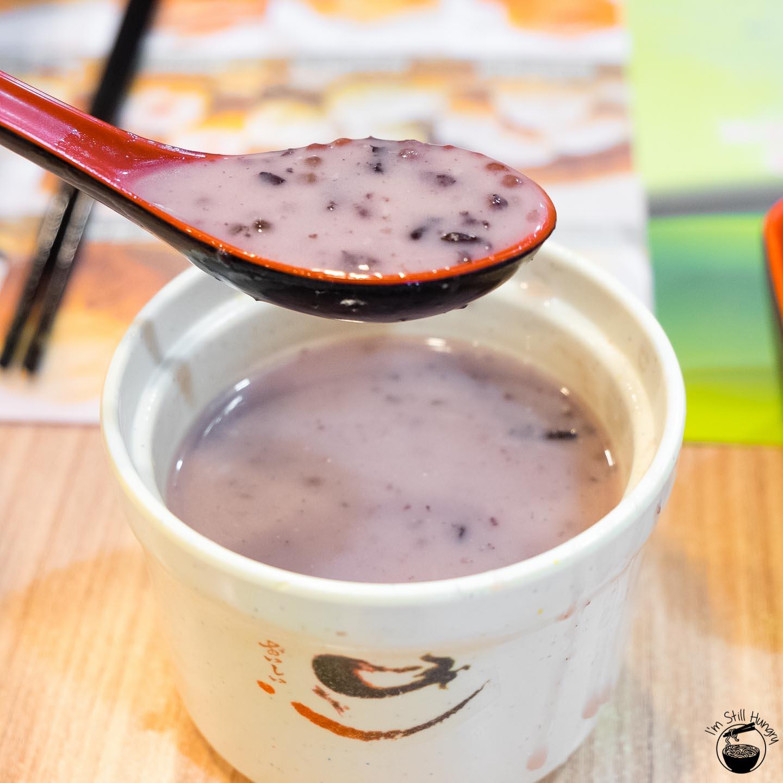 Tim Ho Wan Hong Kong Black sticky rice w/coconut milk pudding