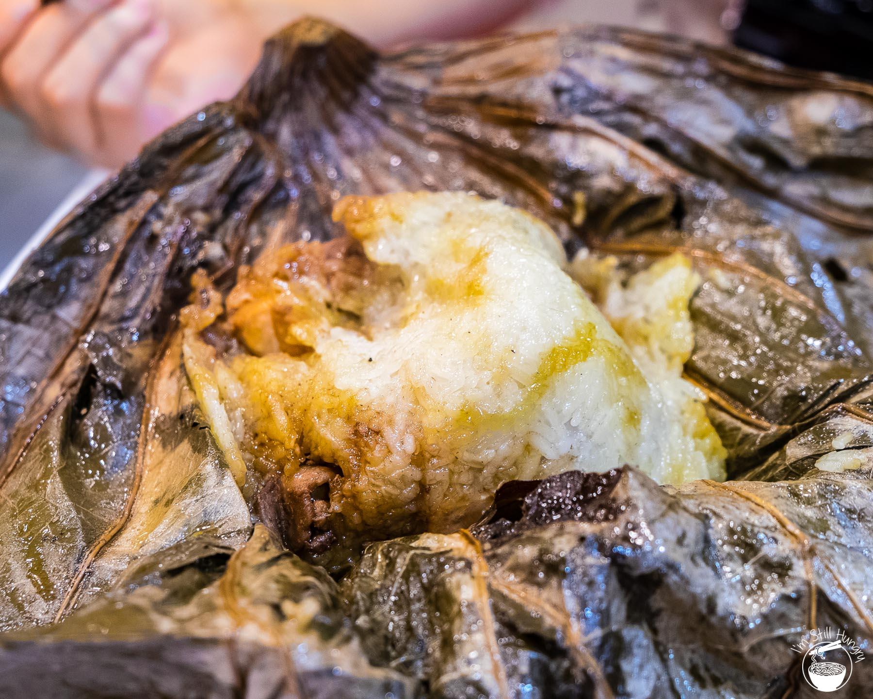 Tim Ho Wan Hong Kong Glutinous rice in lotus leaf w/chicken