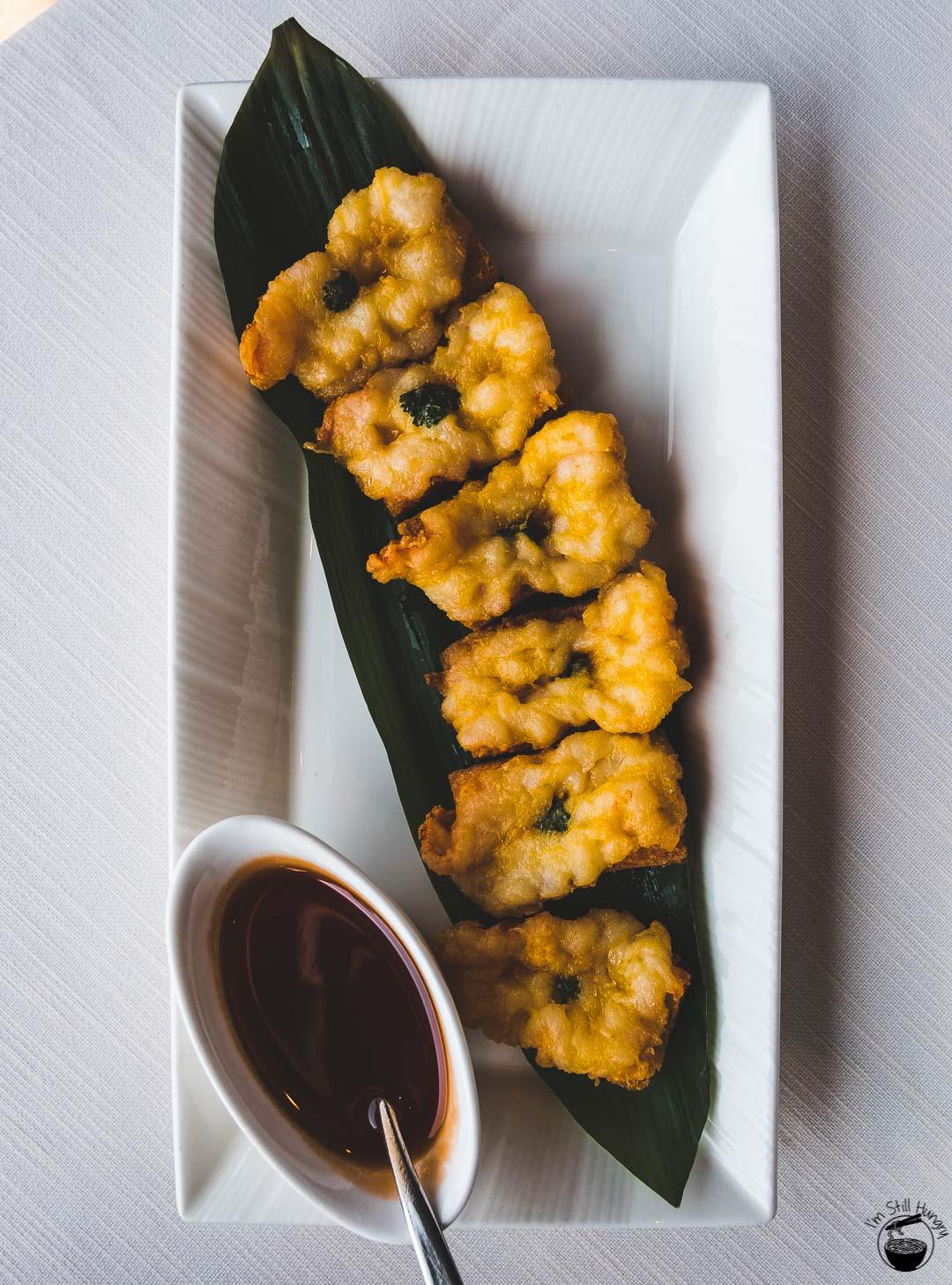 Tin Lung Heen Hong Kong Michelin Deep-fried prawn toast