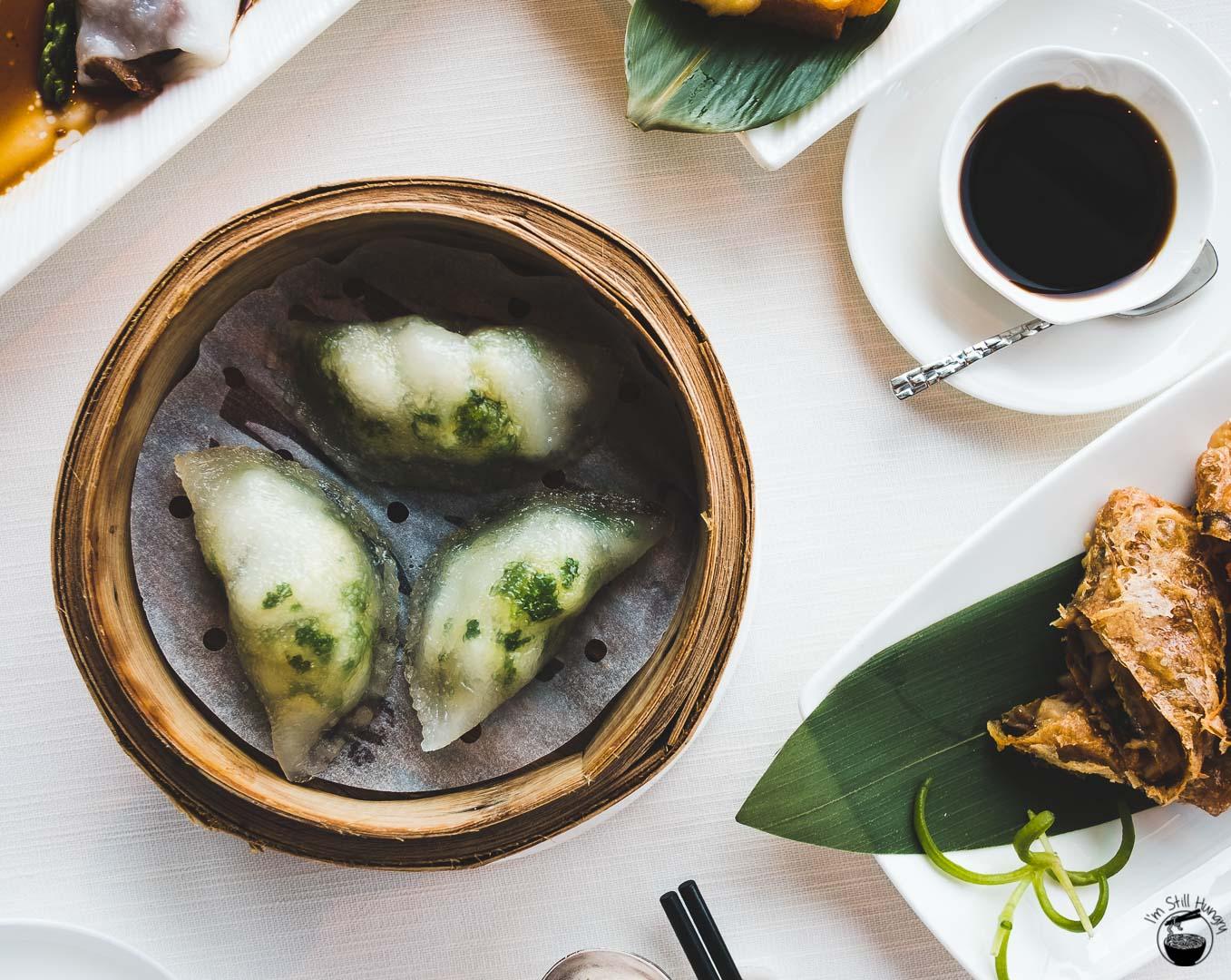 Tin Lung Heen Hong Kong Michelin Steamed spotted garoupa dumpling with coriander