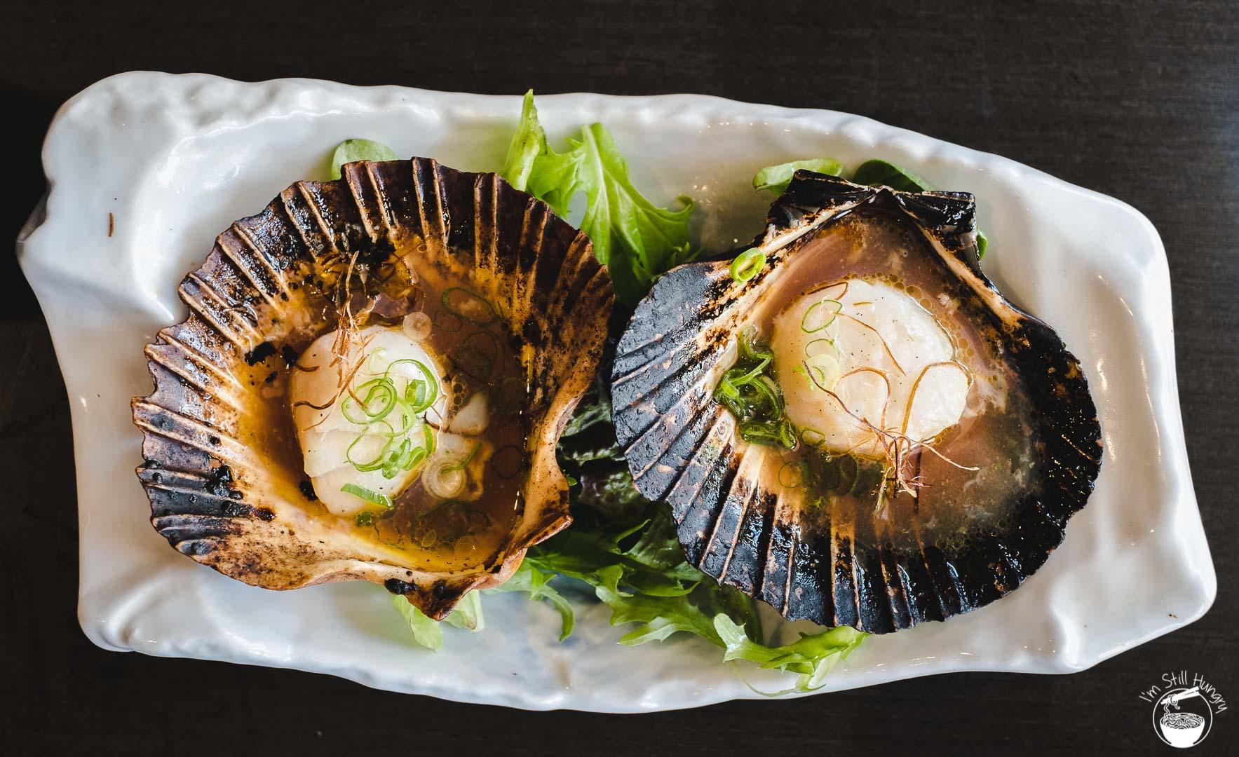 Toshiya Cremorne grilled scallops
