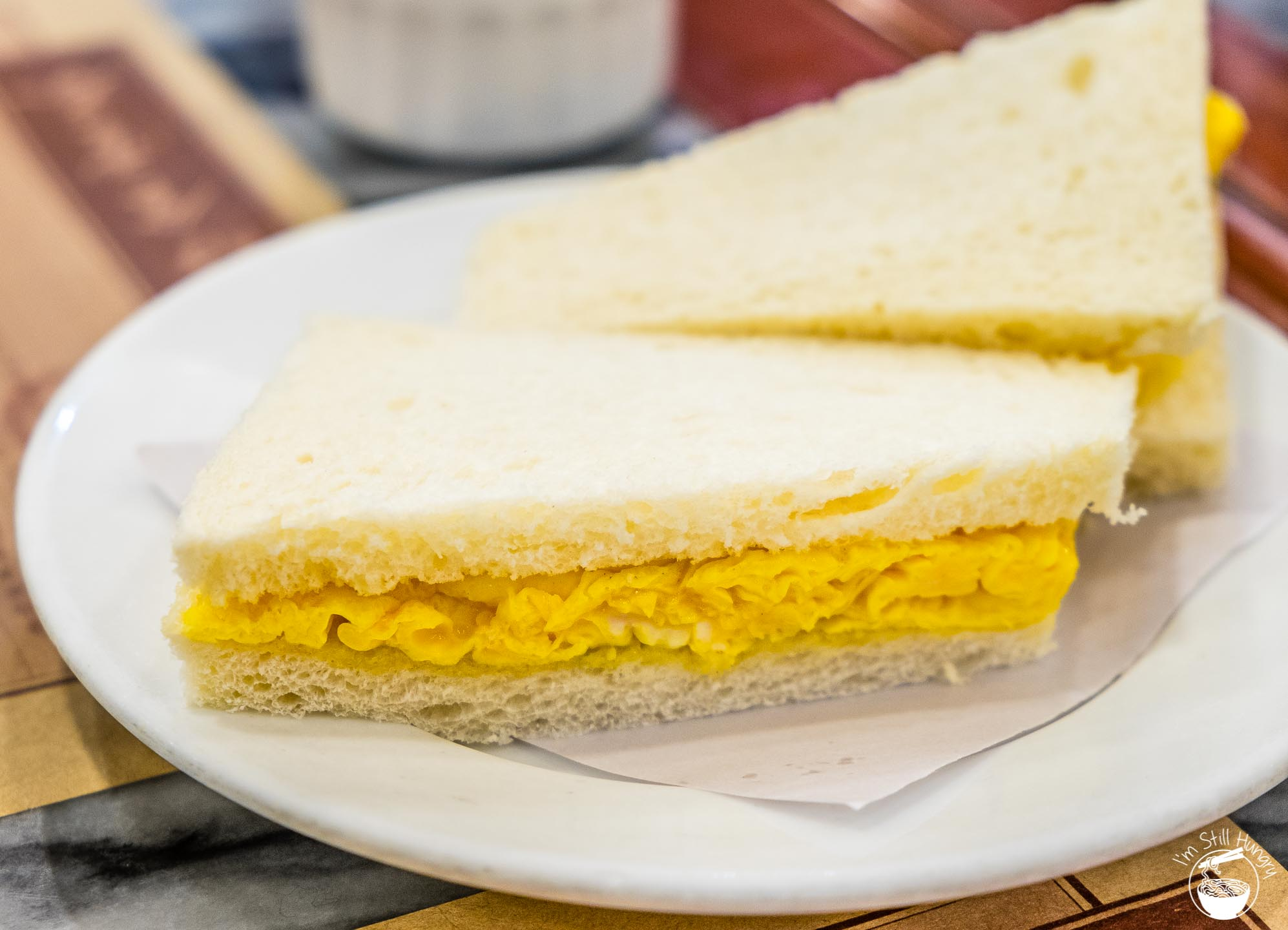 Wong Chi Kei Hong Kong Egg sandwiches. Good, but no Aus Dairy level