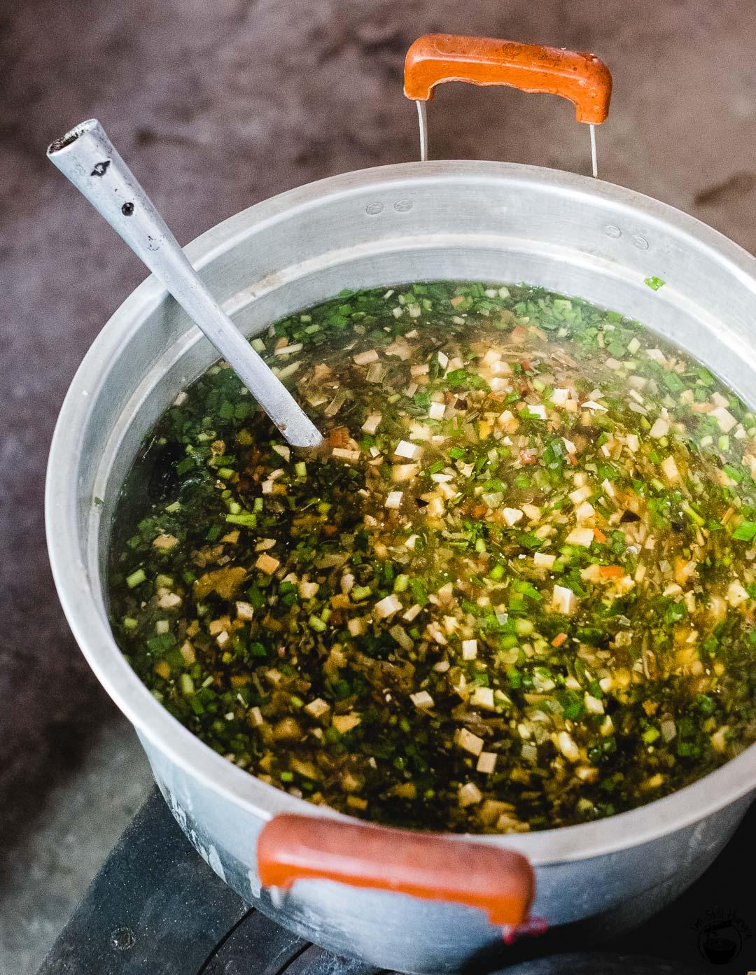 臊子面 (sao zi mian) broth Hui Min Jie Xi'an Muslim Street Food
