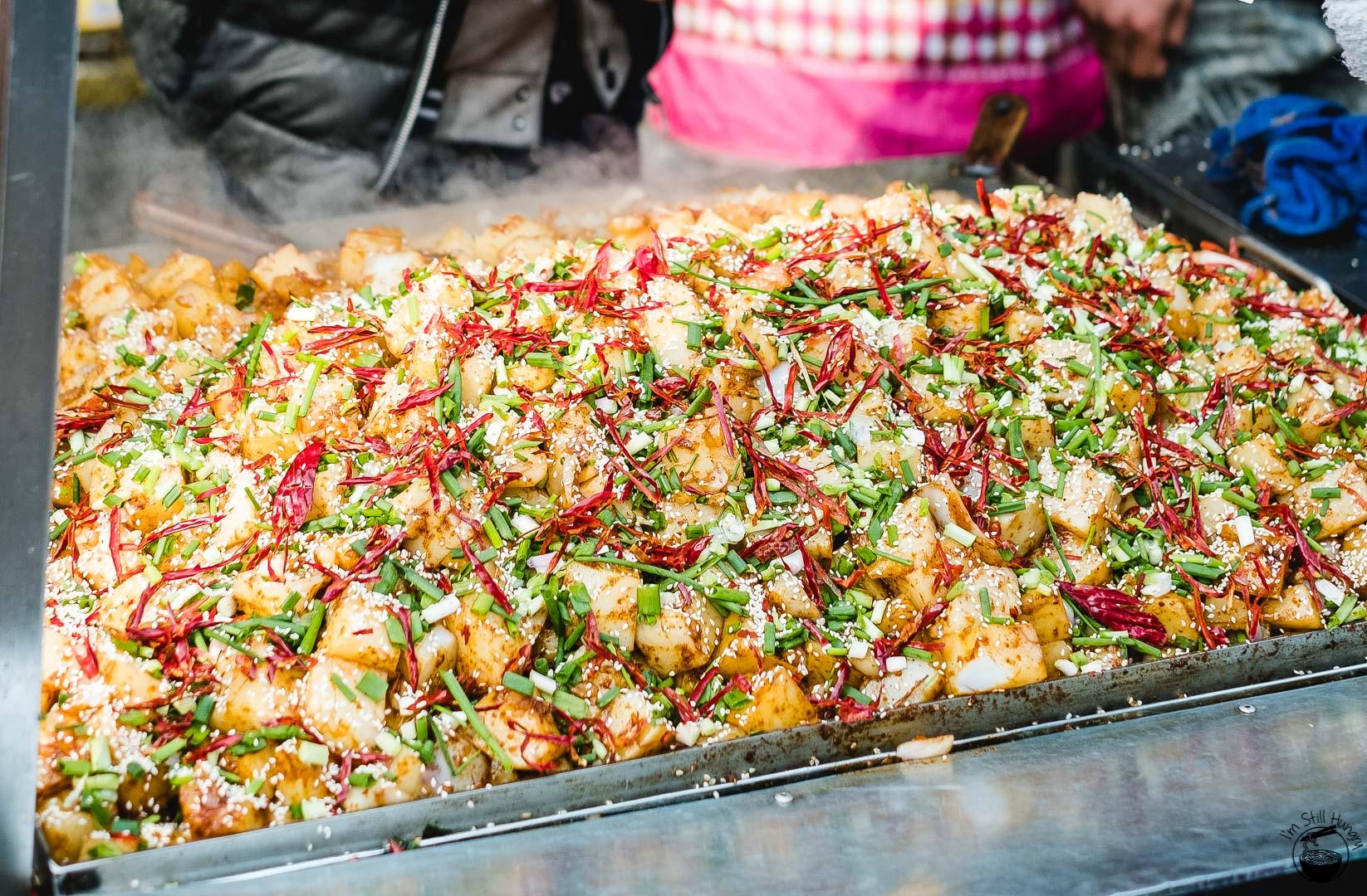 炒凉粉 (chao liang fen) Hui Min Jie Xi'an Muslim Street Food