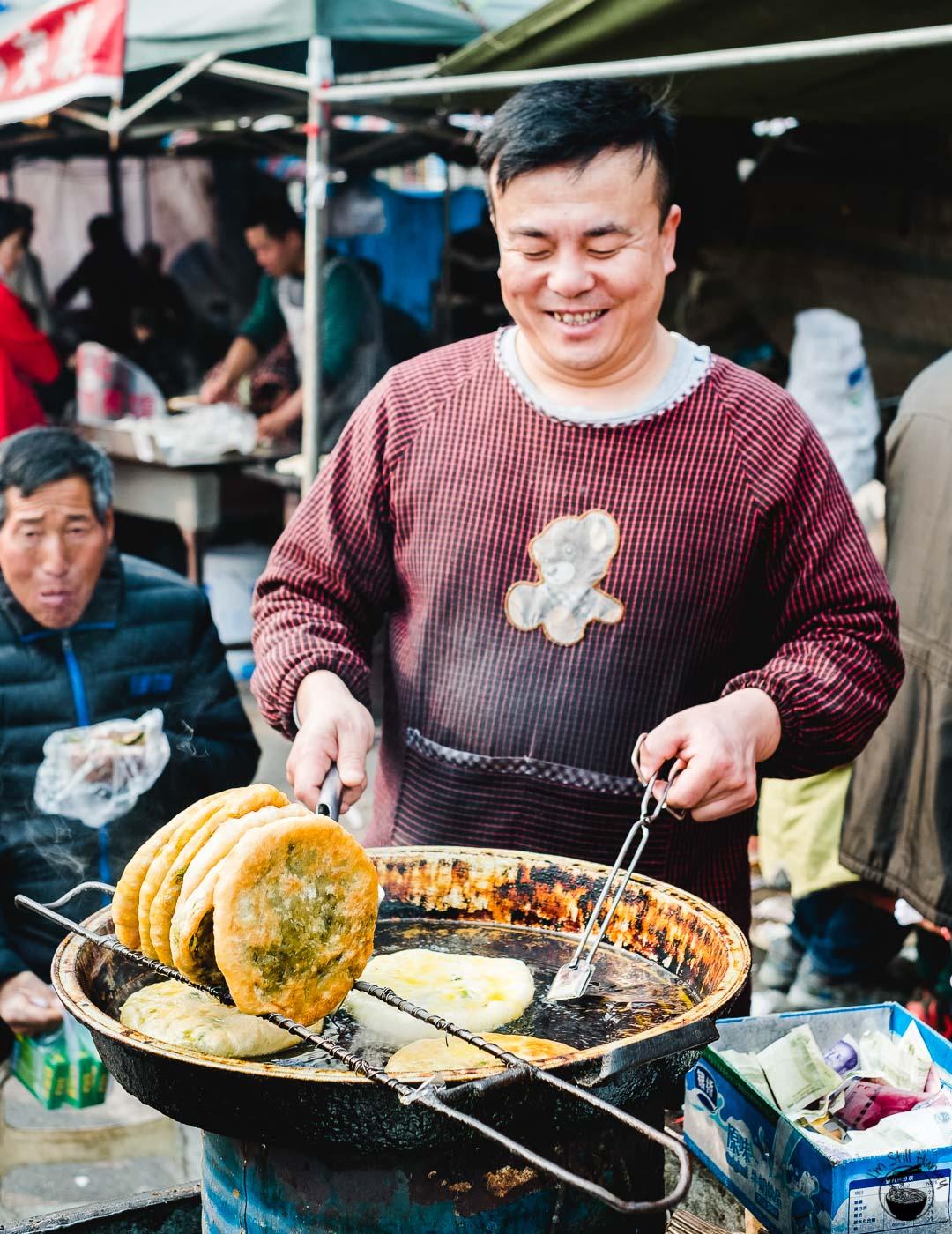 韭菜盒子/粉丝菜盒子 (jiu cai he zi / fen si cai he zi) Hui Min Jie Xi'an Muslim Street Food