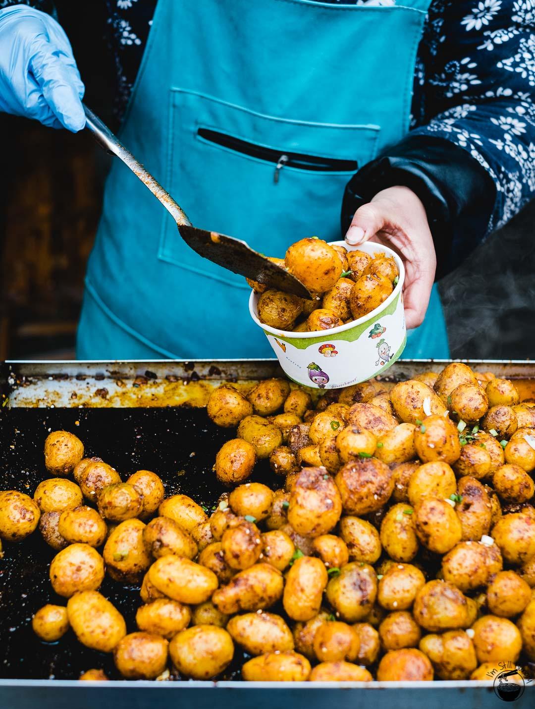 高山小土豆 (gao shan xiao tu dou) Hui Min Jie Xi'an Muslim Street Food