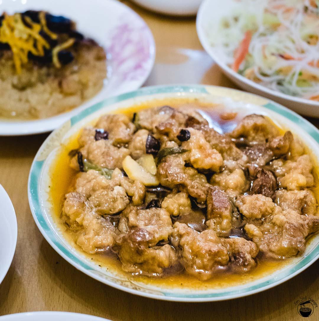 粉蒸肉 (fen zheng rou) Hui Min Jie Xi'an Muslim Street Food