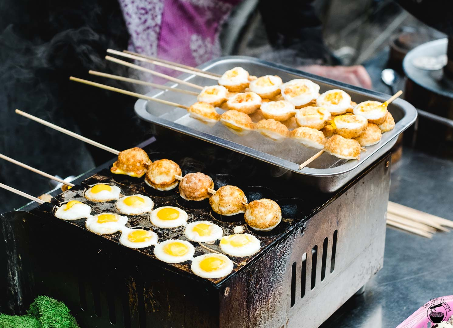 烤鹌鹑蛋 (kao an chun dan) Hui Min Jie Xi'an Muslim Street Food
