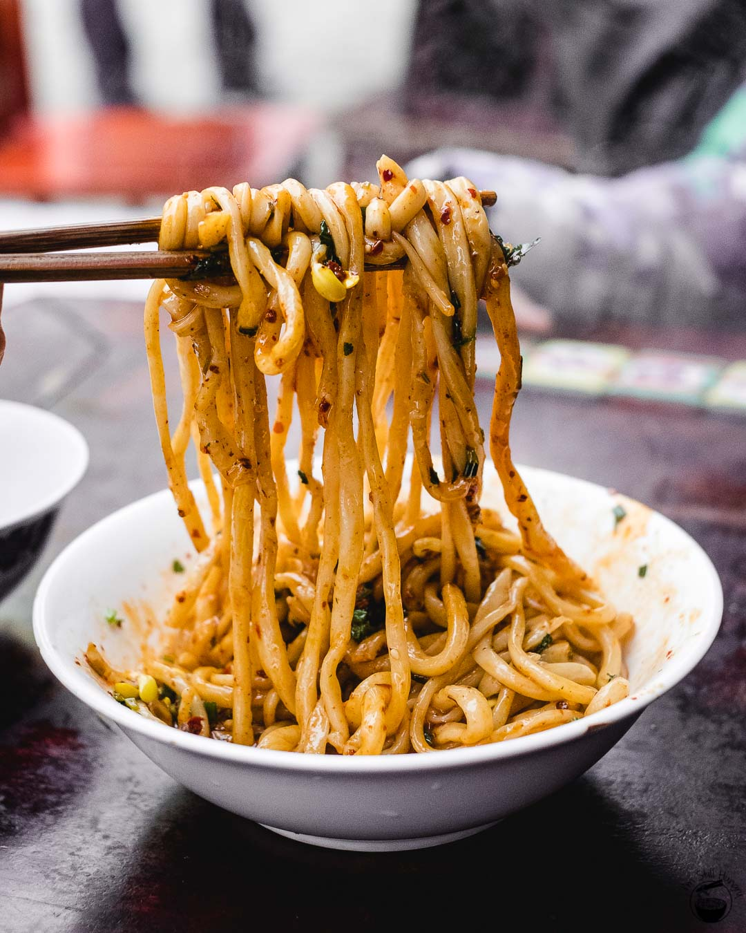 手工搓搓面 (shou gong cha cha mian) Hui Min Jie Xi'an Muslim Street Food