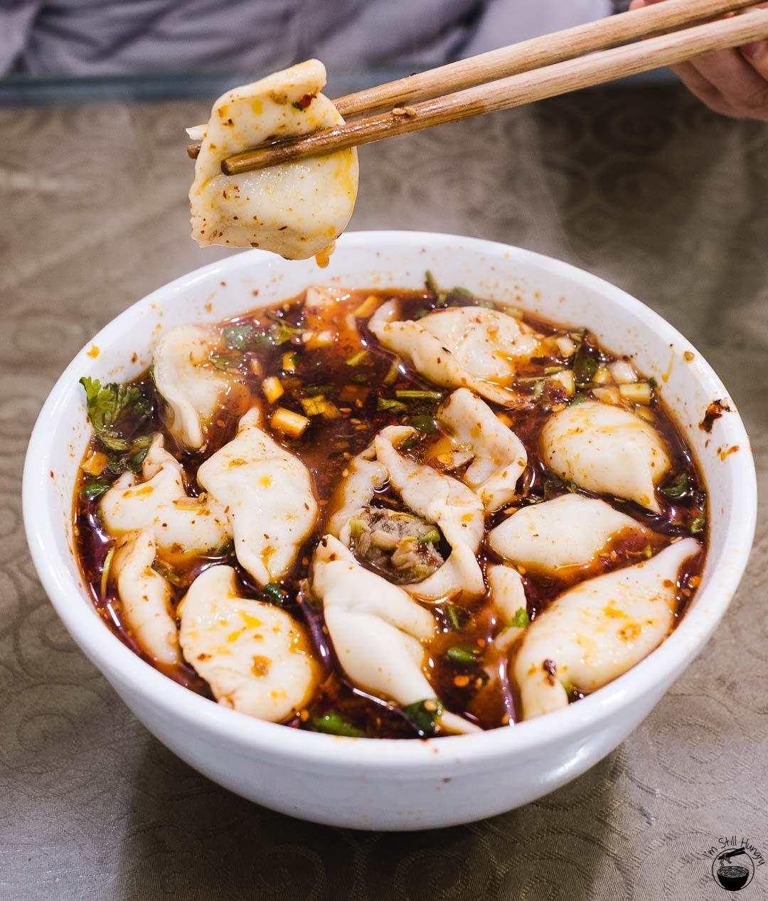酸汤饺子 (suan tang jiao zi) Hui Min Jie Xi'an Muslim Street Food