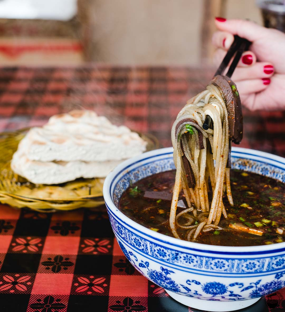 粉汤羊血 (fen tang yang xue) Hui Min Jie Xi'an Muslim Street Food