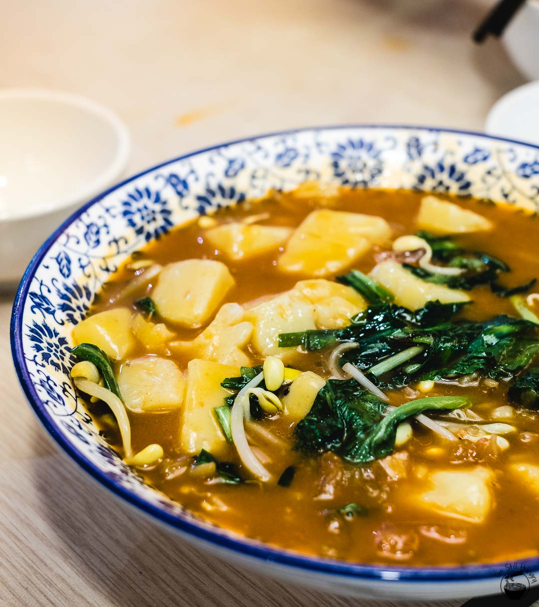 搅团 (jiao tuan) Hui Min Jie Xi'an Muslim Street Food