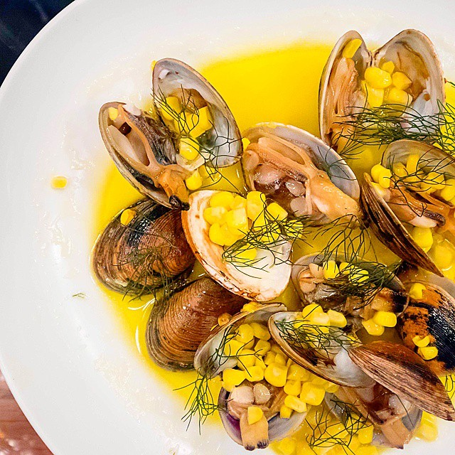 Pei Modern // surf class w/smoked butter & fermented corn >> nothing beats clams in XO sauce, so this tasted a bit too delicate and light for me. Get your palates fired up coz it can be so much more!